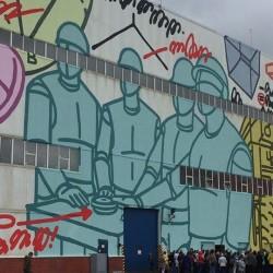 Самое большое граффити в мире. На заводе ОМК. Автор - Misha Most. Скоро появится специальная смотровая площадка, с которой можно будет все разглядеть.  Автор фото - Юлия Шишалова